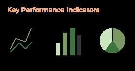 Diagramme, die Key Performance Indicators abbilden