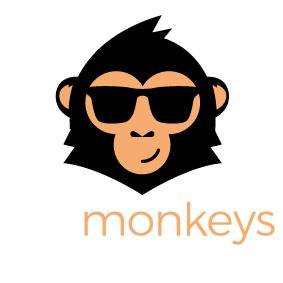 HR monkeys Logo mit Claim
