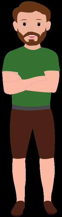 Illustrierter Mann