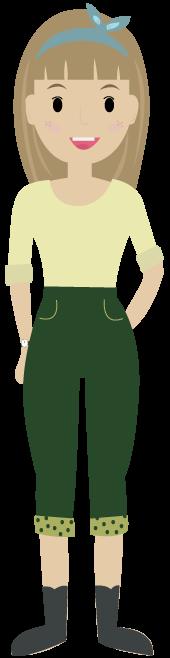 Illustrierte junge Frau