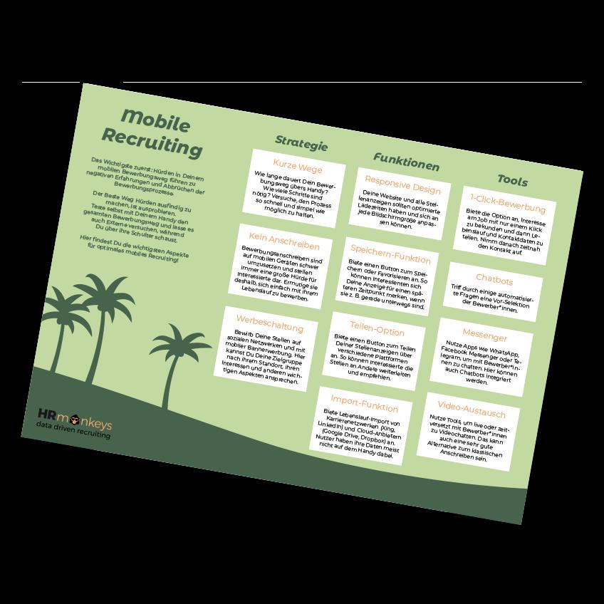 HR monkeys mobile Recruiting Infografik
